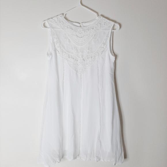 dresslily Dresses & Skirts - White lace mini dress